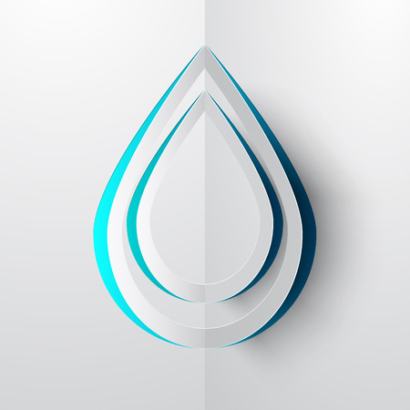 paper cut: Water Drop Paper Cut Vector Illustration