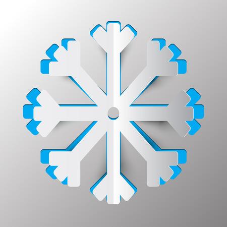 fiambres: Snowflake - Winter Symbol Vector Paper Cut Illustration