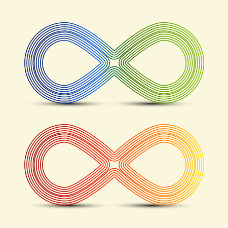 Infinity Symbol - Vector Endless Icons Set