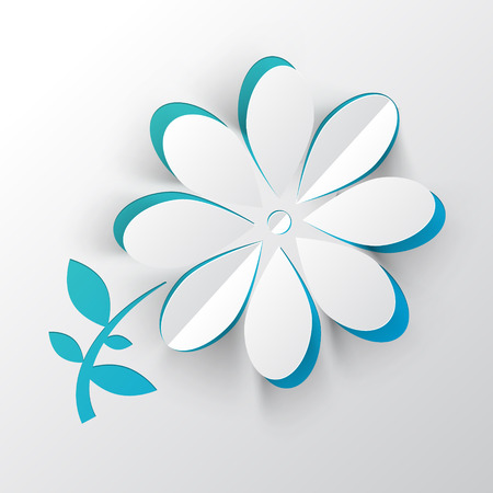 cut paper: Paper Cut Vector Flower