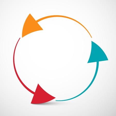 loop: Arrows in Circle Vector Illustration - Loop Infinity Symbol Illustration