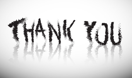 title: Thank You Grunge Vector Title