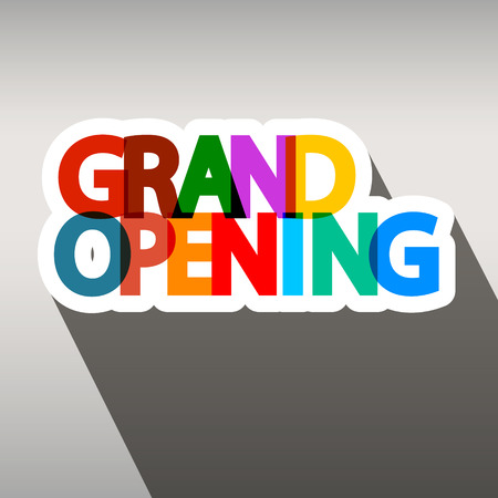 inaugural: Grand Opening Colorful Paper Title Illustration