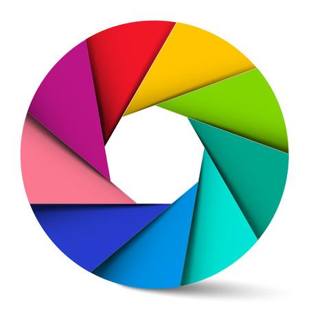circle shape: Colorful Circle Material Design Shape
