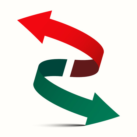 two way: Double Arrow - Diagonal Left Right and Up Down Vector Symbol Illustration
