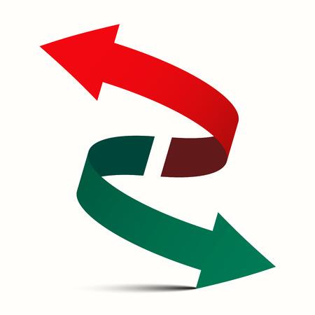 Double Arrow - po przekątnej w lewo i w prawo w górę w dół wektor Symbol Ilustracje wektorowe