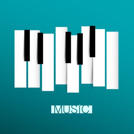 Music Symbol Piano And Keybord Vector Illustration Royalty Free