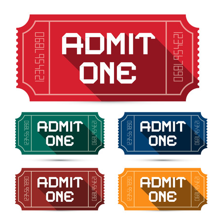 admit one: Admit One Tickets Set - Vector Illustration