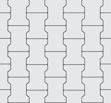 interlocking: Seamless Interlocking Pavement Background - Grey Vector Pattern