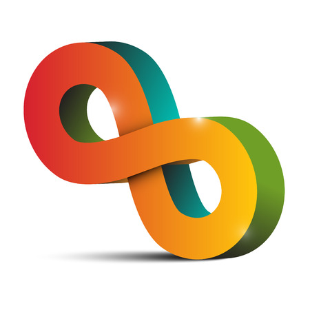 never ending: Infinity Symbol - Tilted Endless Colorful Eight Sign