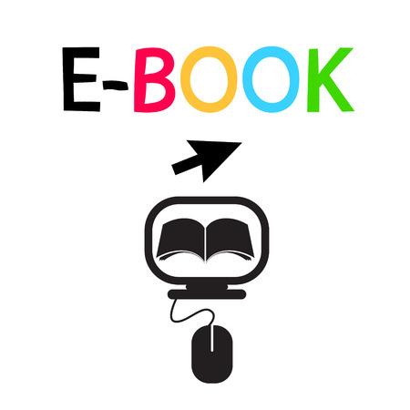 E-BOOK Icon Vector Logo Design Symbol