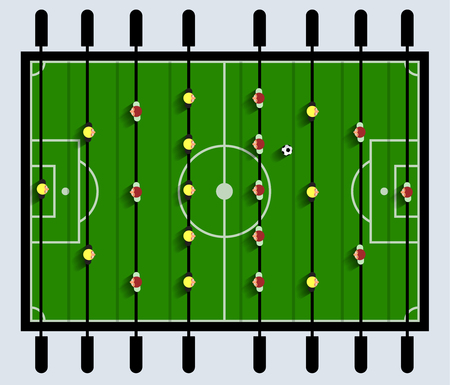 table top: Top View Table Football Game