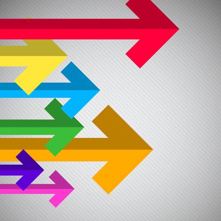 Arrows - Bent Paper Arrow Set on Grey Background Illustration