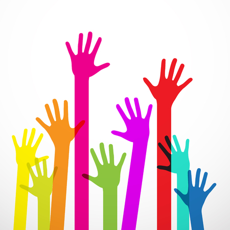 charity collection: Colorful Hands Illustration