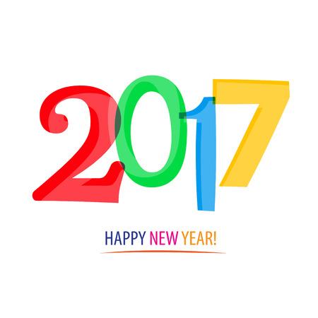 2017 - Happy New Year! Illustration
