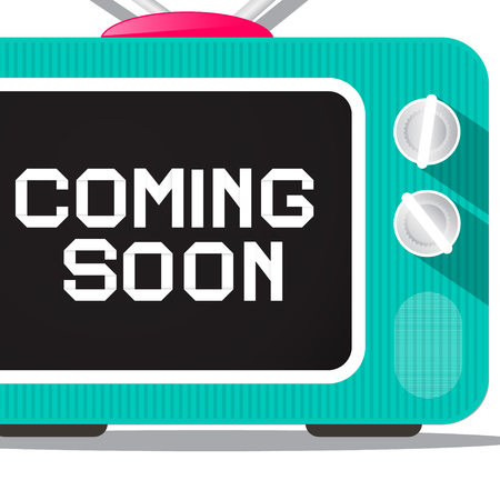 tv screen: Coming Soon. TV Screen Detail. Vector. Illustration