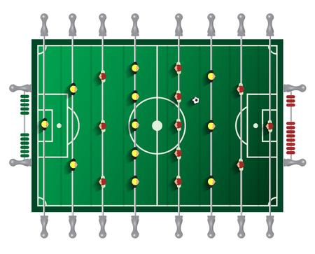 Table Football Vector Tabletop