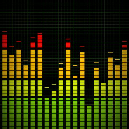 equaliser: Music Equaliser - Frequency Graph Vector Illustration