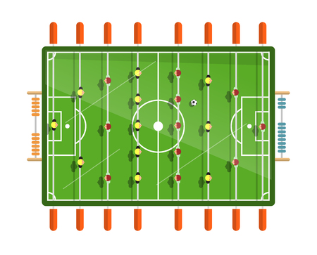 Table Football Vector Flat Design Illustration Isolated on White Background Illustration