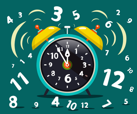 Alarm Clock Ringing . Vector Time Symbol. Stock Vector - 86728403