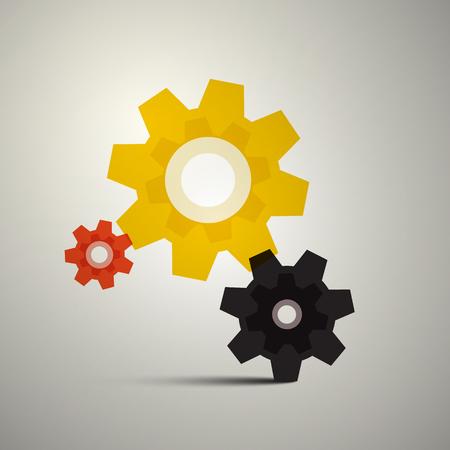 Cogs, Gears. Vector Cog Icon. Gear Symbol.
