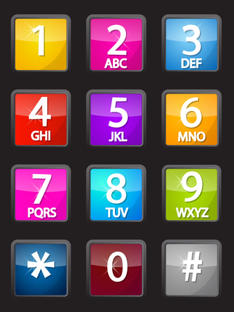 Colorful Vector Phone Dial Illustration