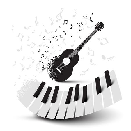 피아노 건반 및 기타