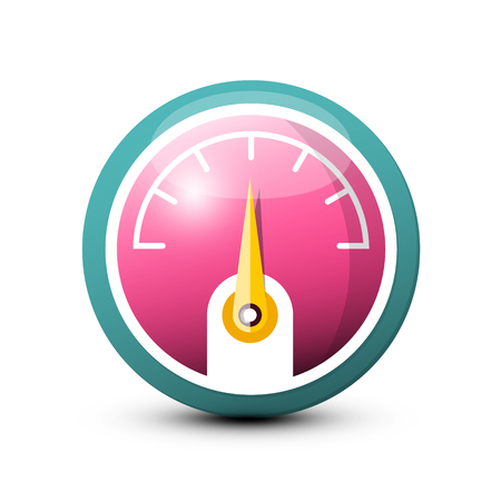 Fuel   Dashboard Vector Icon isolated on white