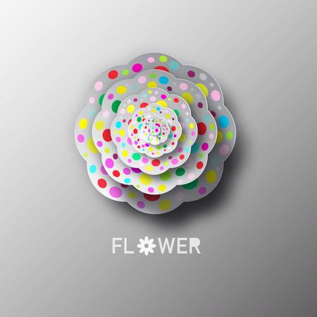 Paper Cat Flower Vector Illustration Standard-Bild - 103302326
