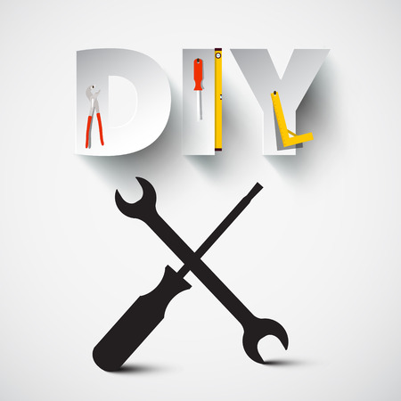 DIY - Do it Yourself Vector Design with Screwdriver and Spanner