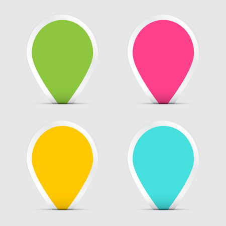Colorful Empty Paper Vector Labels Reklamní fotografie - 126610311