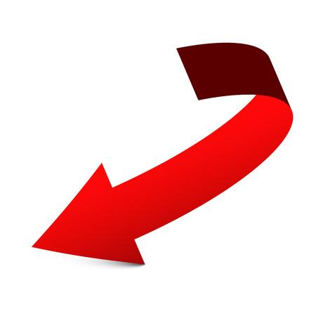 Red Arrow Vector Icon Reklamní fotografie - 126610326