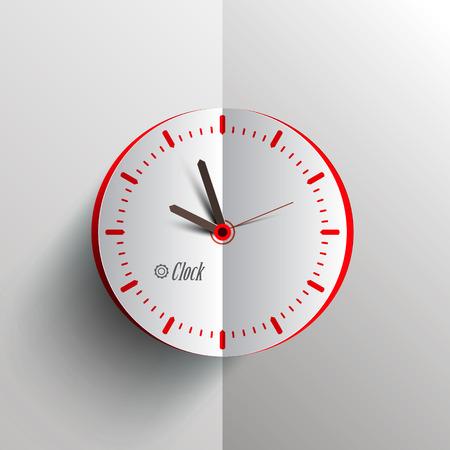 Paper Clock - Analog Vector Time Symbol Ilustrace