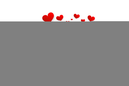 Love Symbol with Red Hearts. Vector Heart Isolate on White Background. Reklamní fotografie - 126584770