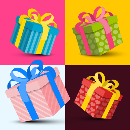 Gift Boxes Vector Design Reklamní fotografie - 126584793