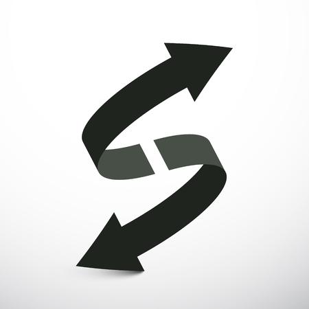 Double Arrow Vector Icon. Up and Down Arrows. Reklamní fotografie - 126530042