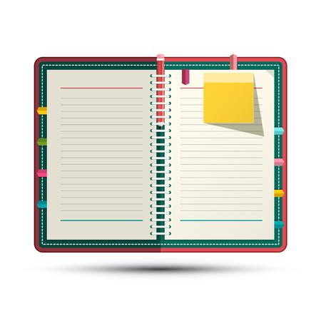 Scrapbook Vector Symbol. Paper Notebook. Reklamní fotografie - 126530045