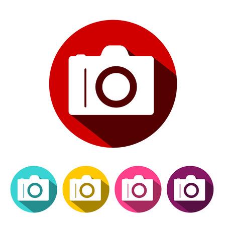 Camera Icon. Vector Photographic Equipment Symbol.