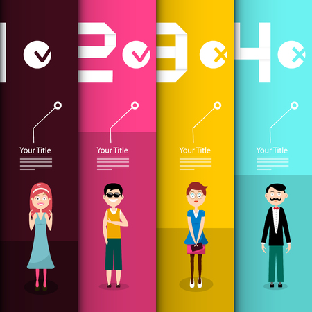 People Infographic Layout. Vector Infographics Design.