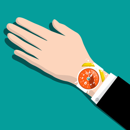 Alarm Clock on Hand Reklamní fotografie - 126478234