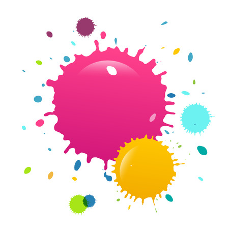 Colorful Paint Splashes Vector Background Reklamní fotografie - 126478238