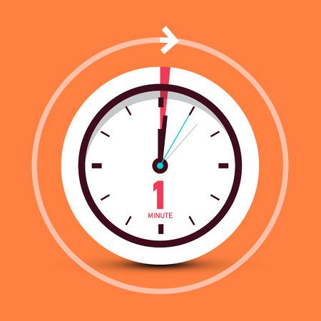 1 symbole d'horloge d'une minute