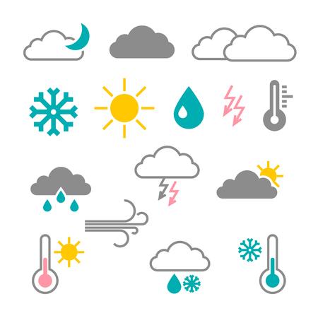 Vector Flat Design Weather Icons Reklamní fotografie - 126039424