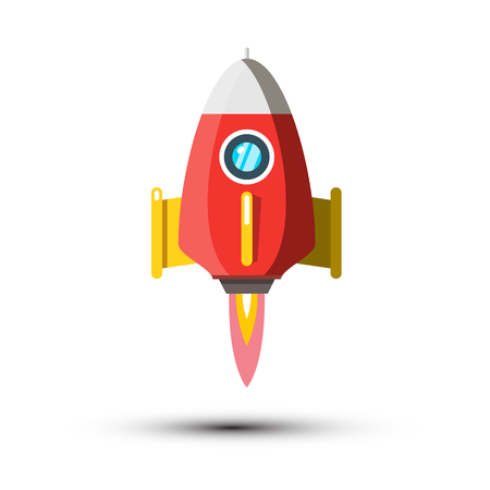 Rocket Launch Vector Symbol Isolated on White Background. Spaceship Icon. Reklamní fotografie - 126039428