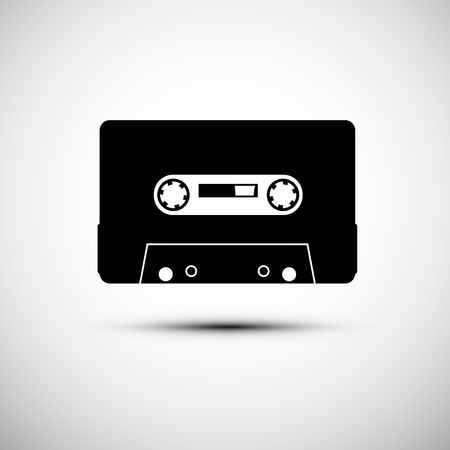Cassette Icon - Vector Analogue Audio Equipment Symbol