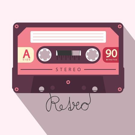 Audio Cassette Retro Vector Media Symbol