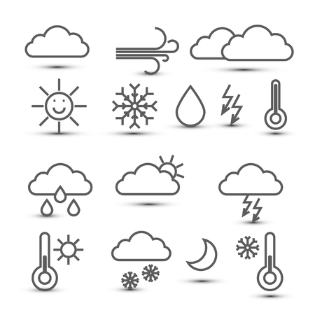 Weather Vector Icons Isolated on White Background Reklamní fotografie - 126039446