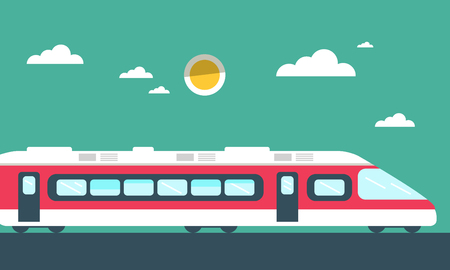 Train Vector Flat Design Illustration