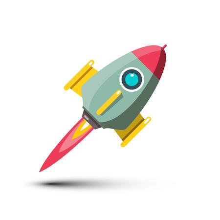 Rocket Vector Icon Isolated on White Background. Spaceship Symbol. Ilustrace