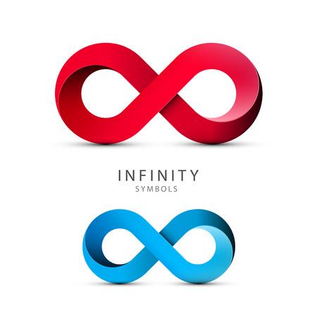 Infinity Symbols. Vector Loop Icons. Endless Shape Ilustração